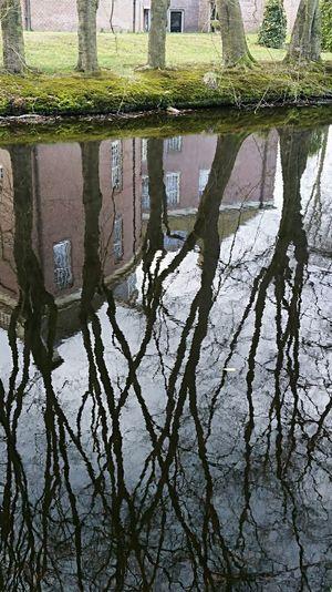 Reflection Water Day Outdoors No People Trees Castle Baarn Kasteel Groeneveld