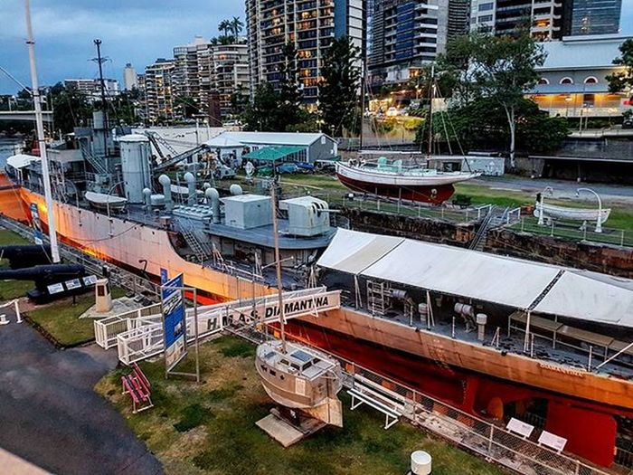 Hmsdiamantina Ship Boats Marines BNE Brisbane Australia Queensland Brisbaneriver