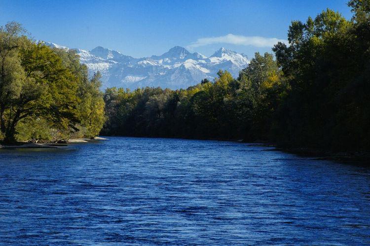 Berge Fluss