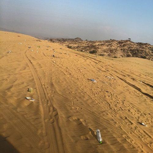 أجعل المكان افضل مما كان .. نظافة طعوس صحراء مخلفات كشتات نزهة