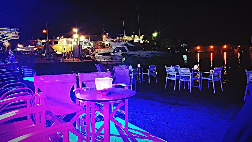 Chersonissos Kreta Chair Table Night Outdoor Cafe Illuminated Restaurant Outdoors first eyeem photo