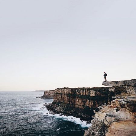 'man is free at the moment he wishes to be' // @australia has some beautiful cliffs and scenery with so much history within them, i feel so lucky to be living here! Seeaustralia Newsouthwales Minimalpeople