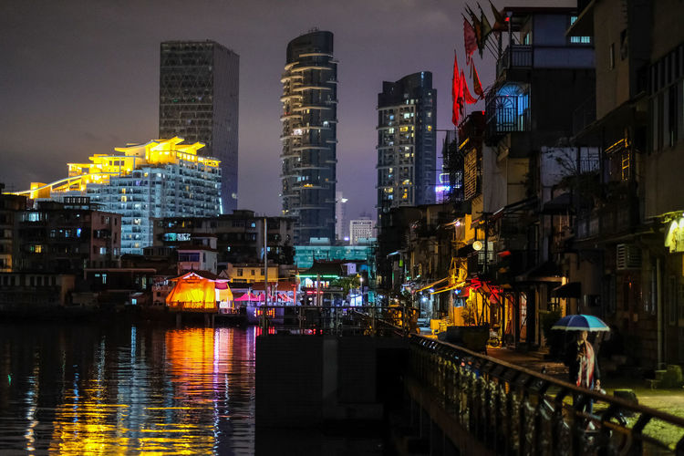 Am Amoy Street Architecture Building Exterior Built Structure City Illuminated Modern Night No People Outdoors Shapowei Sky Skyscraper Travel Destinations Water Xiamen Xiamencity 厦门 沙坡尾