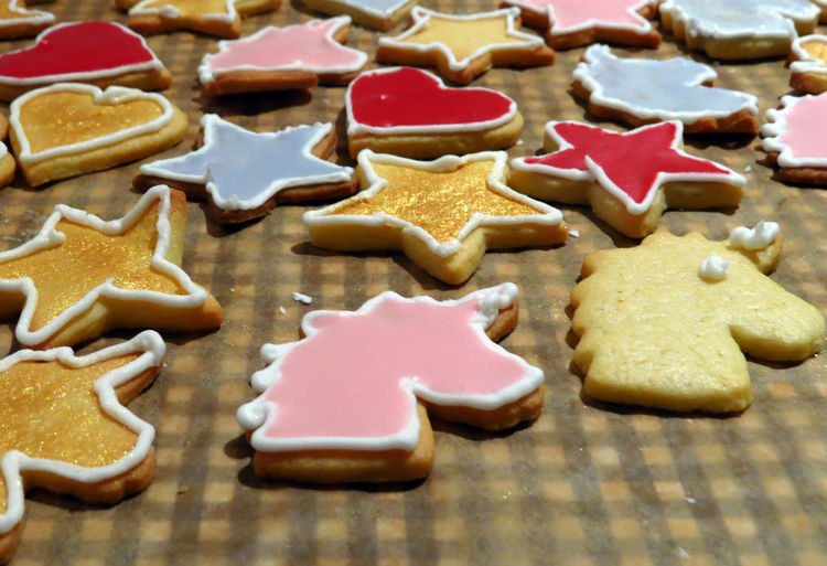 Cookie Cookies Cookie Cutter Baking Baking Cookies Biscuits Pastry Dough Cookie Dough Christmas Cookies Christmas Christmas Baking Icing Royal Icing Temptation Sweet Food Baked Gingerbread Cookie Unicorn Unicorn Cookie Pink Color Pink Sweet Food High Angle View
