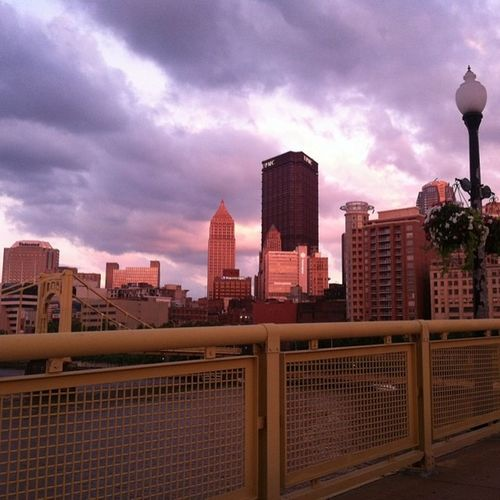 No filter required...this city is pink! PGH 412 Home Stormyclouds