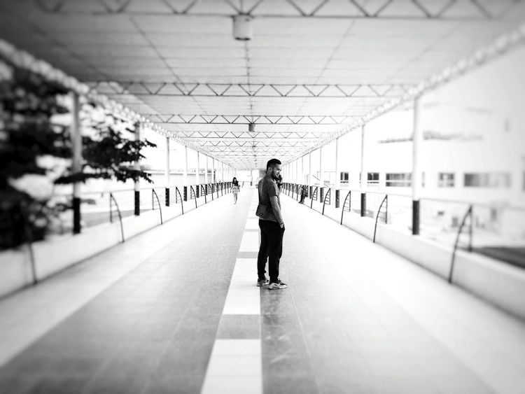 Rear View Full Length People One Man Only Standing Mobilephotography Monochrome Photography Black & White Lens Blur Capture The Moment The Street Photographer - 2017 EyeEm Awards The Portraitist - 2017 EyeEm Awards EyeEmNewHere Eyeem Philippines The Week On Eyem BYOPaper! Live For The Story