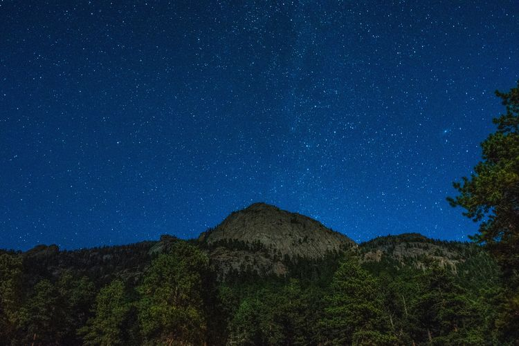 Long exposure of the McGregor Mountain taken from the Della Terra Mountain Chateau in Estes Park, CO Long Exposure Mountain Estes Park, CO Estes Park Stars Starscape Night Starry Night