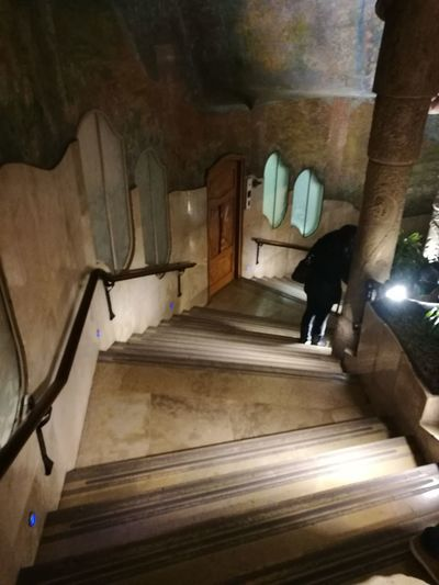 Barcelona, Spain Gaudì Architecture Work La Pedrera, Casa Milá On Sale My Best Photo Curve Steps Cave Steps And Staircases Staircase Ancient Basement Architecture Civilization Visiting Museum Old Ruin The Past