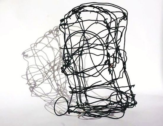 Art Sculpture Wire 3D 3Dart Chaos Cable Business Tangled Silhouette Abstract Complexity No People White Background Day