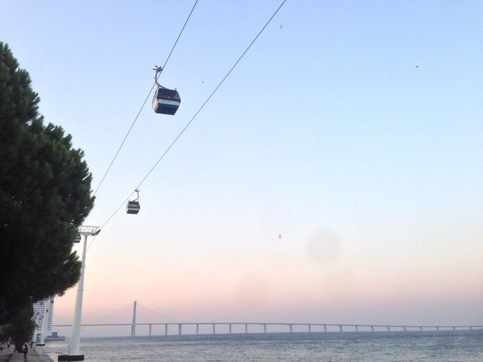 Transportation Overhead Cable Car Tree Cable Tranquil Scene Clear Sky Connection Scenics Mode Of Transport Tranquility Steel Cable Tourism Non-urban Scene Remote Solitude Lisbon Portugal Traveling Tranquility DayTrip] Nature dayPower Line eJourneyyBeauty In Naturee