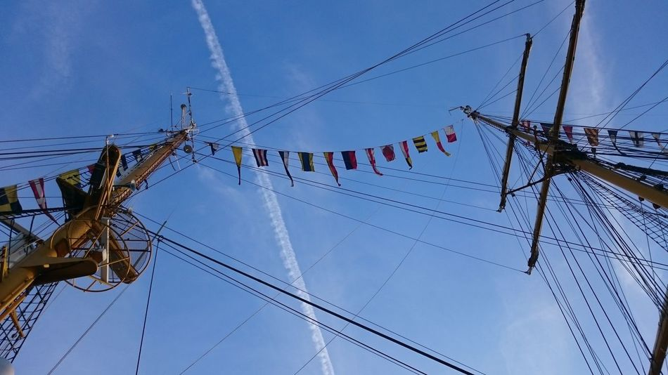 Colorful Composition Connection Day Development Environmental Conservation Flag Flags Flags In The Wind  Full Frame Gorch Fock Large Group Of Objects Low Angle View No People Outdoors Overhead View Perspective Rope Sail Sail Away, Sail Away Sailboat Sailing Side By Side Top Perspective Working