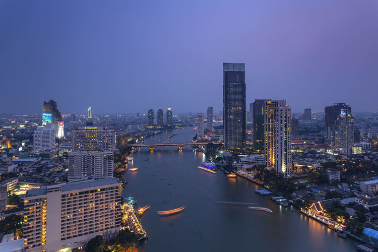 View of Chao Phraya river twilight and city scape Bangkok City ่Chao Phraya River Chao Phraya River In Bangkok, Thailand Twilight View Of Chao Phraya River Building Built Structure City City Scape Cityscape Illuminated Landscape Modern Nature Night Outdoors Sky Skyscraper Tall - High Top View Tower Twilight Sky Twilight View Urban Skyline Water