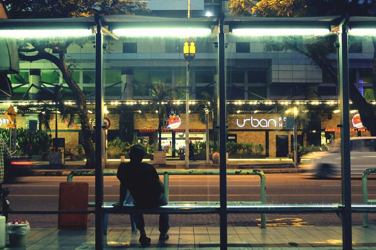 City Bus Stop City Life Night Person Lifestyles Road Building Exterior Showcase: September The Photojournalist - 2018 EyeEm Awards