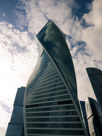 Skyscraper Architecture Modern Building Exterior Built Structure Business Finance And Industry Cloud - Sky City Low Angle View Sky Corporate Business Outdoors Business Urban Skyline Day No People
