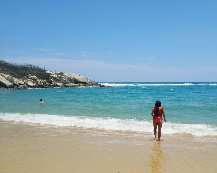 Wave Sea Full Length Beach Clear Sky Sand Water Summer Sunny Sky