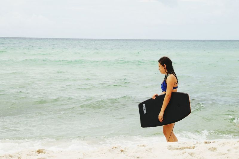 Beach Sea One Person Sand Travel
