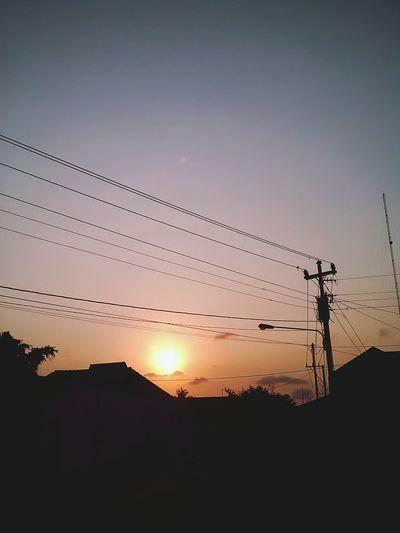 Road sun set