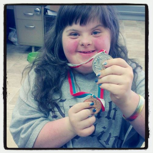 Winner Enjoying Life The Moment The Moment - 2014 EyeEm Awards Special Olympics silver and gold, so proud. That smile!