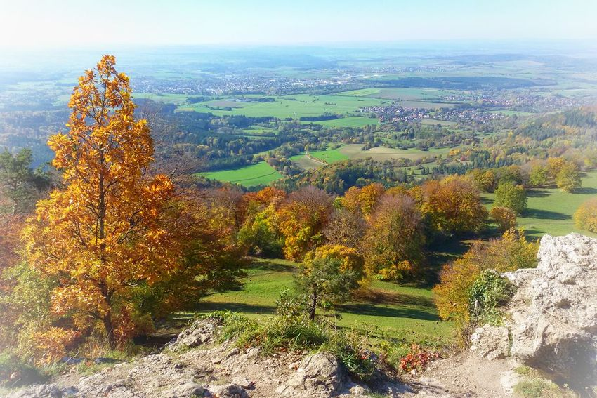 Landscape No People Outdoors Nature Scenics Aerial View Day Beauty In Nature Sky Tree Swabian Alb Baden-Württemberg  Germany Autumn Autumn Colors Autumn Collection Rock - Object Rock Formation Colorful