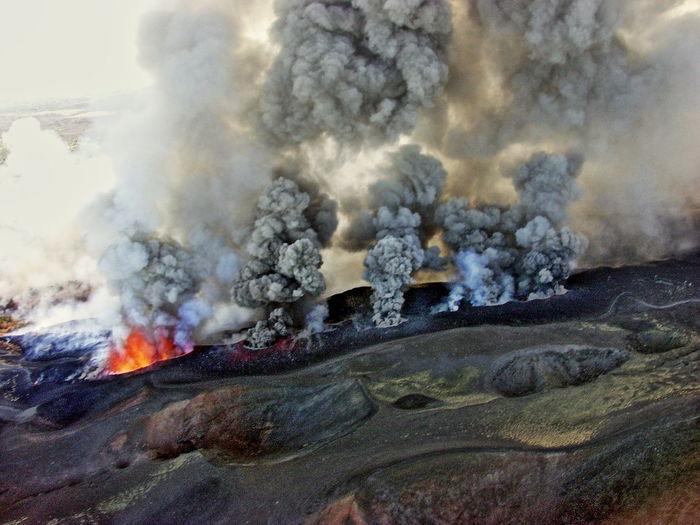 Smokes on landscape