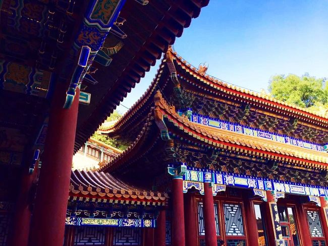 The Summer Palace Architecture Building Exterior Built Structure Low Angle View Roof Eaves Religion Day Travel Destinations Tradition Place Of Worship Outdoors No People Sky