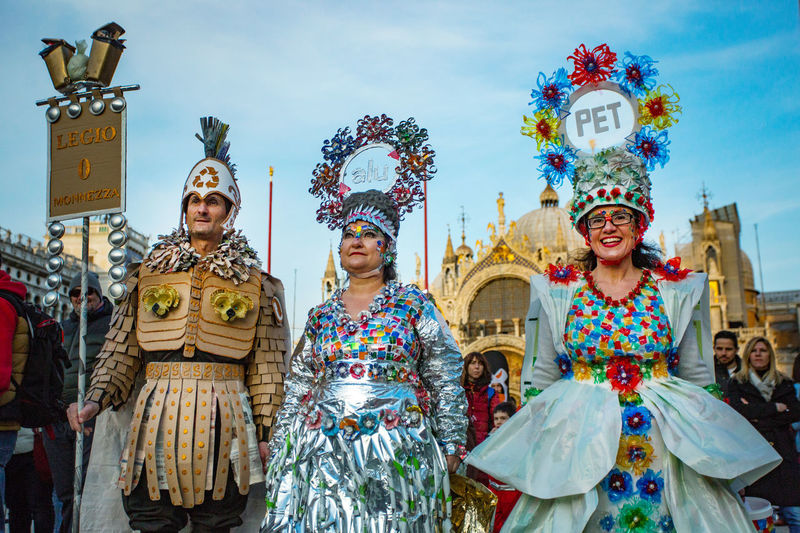 Carnival Carnival In Venice St. Mark's Square Venice, Italy Carnival Costumes Carnival Masks Mask Real People Venetian Mask