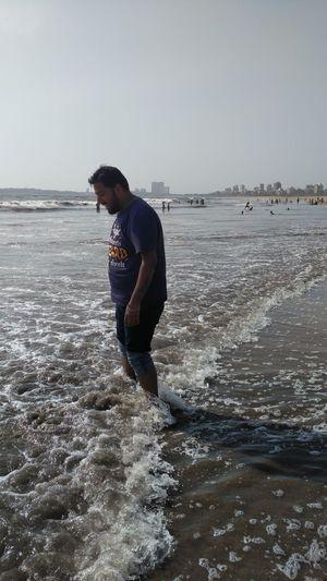 Man enjoying at beach