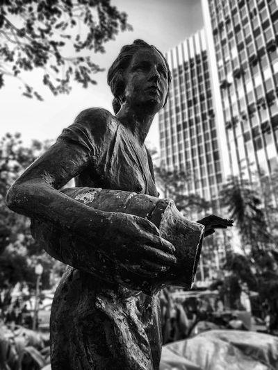 City Statue Day Outdoors Mobile Photography Porto Alegre Architecture EyeEmNewHere Rio Grande Do Sul  Travel Destinations Mobile_photographer Praça Da Alfândega P&B No People Preto & Branco Blackandwhite Photography B&w Pretoebranco Blackandwhite Black And White