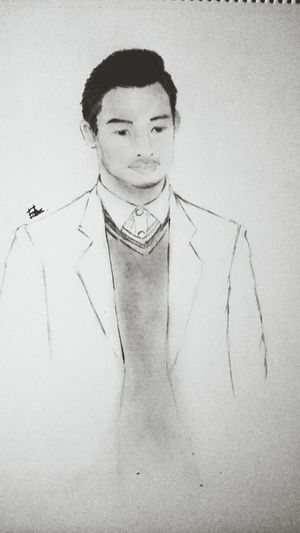 a sketch of my friend by me