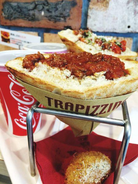 Trapizzino Launch おいしい だけど食べにくいんです。 夜はラーメン でぶ Dietは明日から