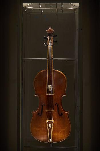 The violin Black Background Close-up Day Indoors  Music Musical Instrument Musical Instrument String No People Old Stradivarius Violin
