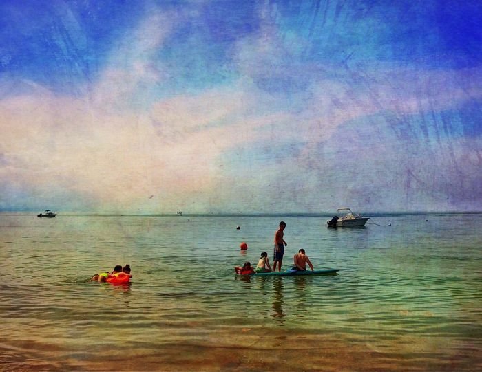 Sea Pines Beach, Cape Cod Water Sea Outdoors Painterly Painterly Effect Mobilephotography Cape Cod IPhoneography IPhone7Plus IPhone Leisure Activity Kayaking Kayak Bay Capecodbay Capecodlife DistressedFX