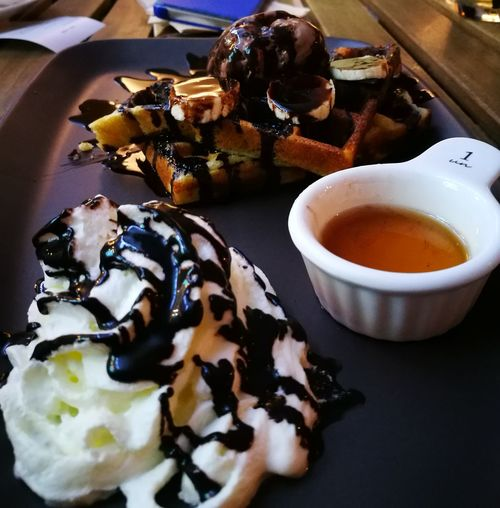 Waffle Indulgence Dessert Chocolate Sauce Sweet Food Citta Mall