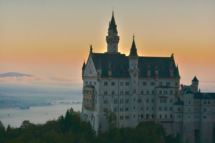 Germany's Fairy Tale Architecture Bavaria Building Castle Château Close-up Dawn Dusk Europe Fair Tale Fortress Hiking Hikingadventures Historic History Landscape Morning Palace Ssunrise Sunlight Sunlight And Shadow Sunlight ☀ Tourism Tower Travel