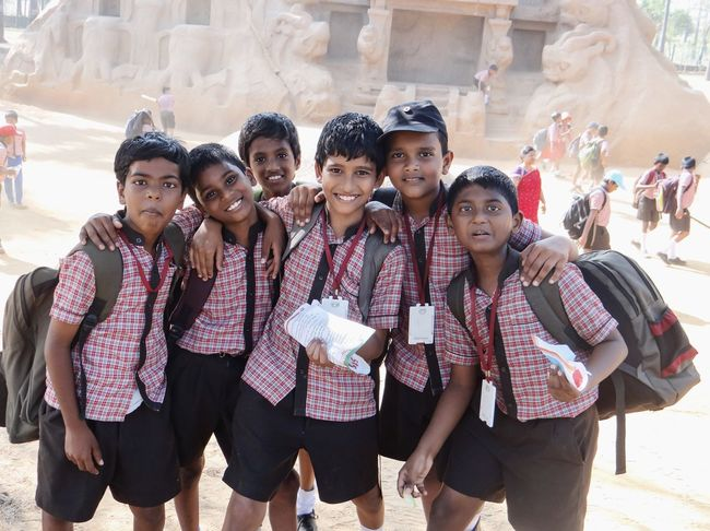 Friends Educational Education Looking At Camera Portrait Young Men Group Of People Young Adult Men Real People Cultures Young Women Outdoors Day People Boys School School Life  Mahabalipuram, India School Uniform Indian Friends Group Group Photo The Portraitist - 2017 EyeEm Awards The Portraitist - 2018 EyeEm Awards