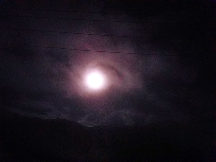The supermoon in a drive by shot on the way home...was magnificent sight..