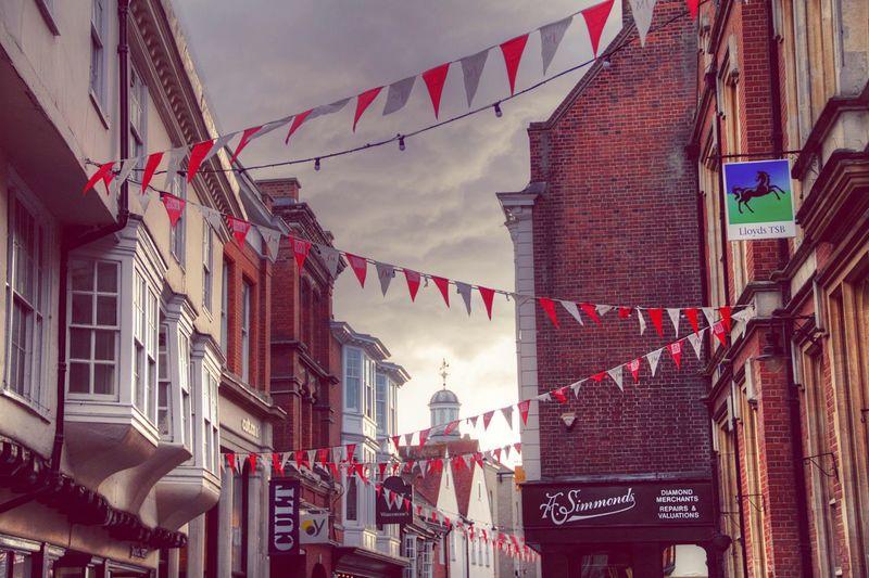 Festival Festival Canterbury United Kingdom Flags Church Sky