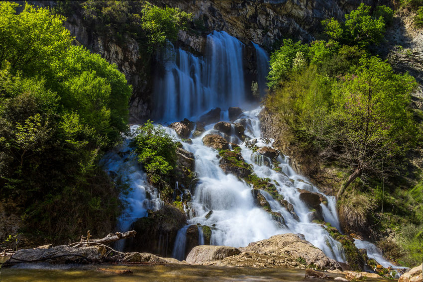 Albania Beauty In Nature Blurred Motion Day Environment Flowing Flowing Water Forest Land Long Exposure Motion Nature No People Outdoors Plant Power In Nature Rainforest Rock Rock - Object Scenics - Nature Solid Tree Water Waterfall