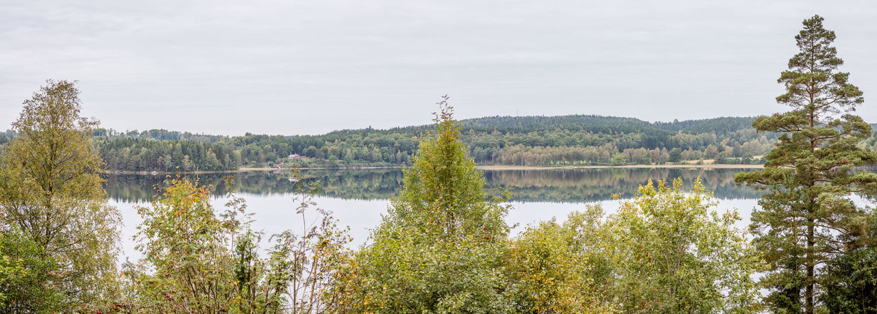 Autumn Beauty In Nature Countryside Day Lake Lakeside Nature No People Outdoors Panorama Reflections In The Water Sweden Tranquility