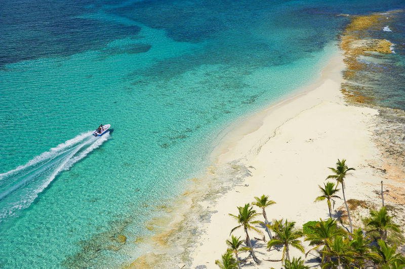Aerial Shot Helicopter Aerial Photography Aerial View Aquatic Sport Beach Beauty In Nature Boat Day Helicopter Shoot Helicopter View  High Angle View Land Motion Nature No People Outdoors Plant Sand Scenics - Nature Sea Tranquil Scene Tranquility Turquoise Colored Water