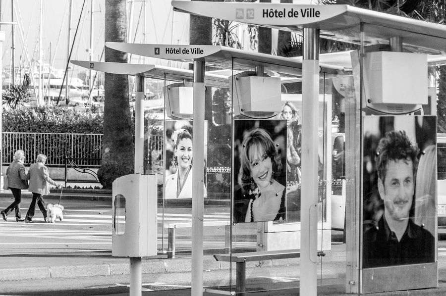Black & White Bus Station Cannes Film Festival Festival De Cannes Filmstars Gare Des Autobus Movie Stars Provence Sean Penn The Street Photographer - 2017 EyeEm Awards The Street Photographer - 2017 EyeEm Awards Your Ticket To Europe Black And White Friday