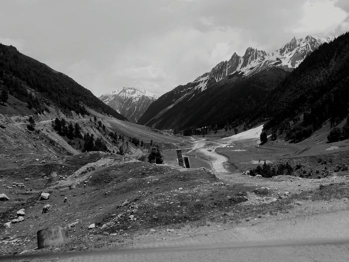 EyeEm Selects Mountain Cloud - Sky Landscape Mountain Range Scenics Outdoors Vacations Beauty In Nature No People Nature Travel Destinations Winding Road Day Snow EyeEm Best Shots - Nature EyeEm Team EyeEm Nature Lover Kashmir , India Kashmirdiaries Kashmirdiaries❤️ Black & White