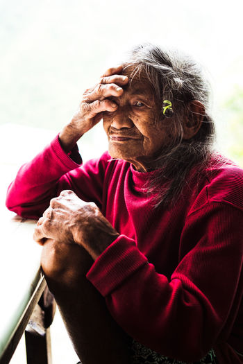 Senior Adult One Person Real People Adult Lifestyles Day Portrait Wrinkled Focus On Foreground Looking Senior Men Senior Women Looking At Camera Males  Men Outdoors Social Issues International Women's Day 2019