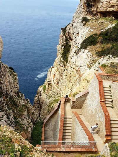Stairs Stairs_collection Blue Wave Grotte Di Nettuno Rocks And Water Beautiful Nature Sassari Beautiful Places Around The World