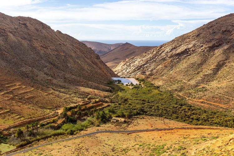 Landscape between betancuria and pajara on fuerteventura, spain