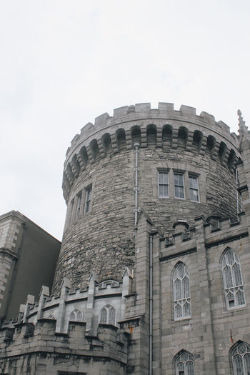 Architecture Building Exterior Built Structure Low Angle View The Past Sky History Window No People Building Travel Destinations Nature Day Travel City Clear Sky Outdoors Tourism Old Dublin Dublin, Ireland Dublin Castle Castle Tower Old Buildings Architecture Traveling Old Ruin The Traveler - 2019 EyeEm Awards