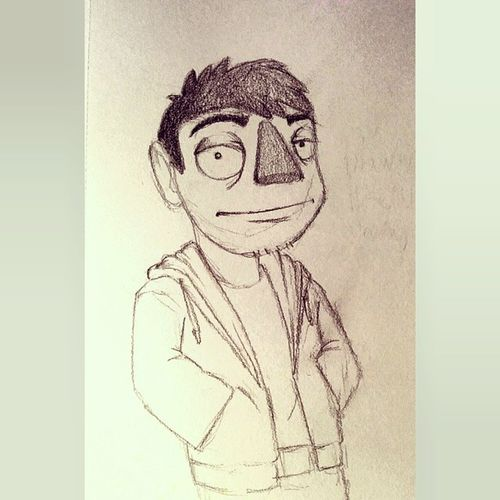 Owl Turd-style sketch I did yesterday. Artofurbandrawer Owlturd