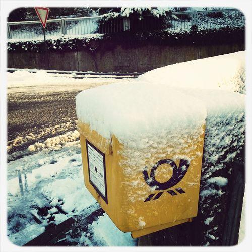 slow mail or snow mail? Snail Mail Snow Mail Mailbox