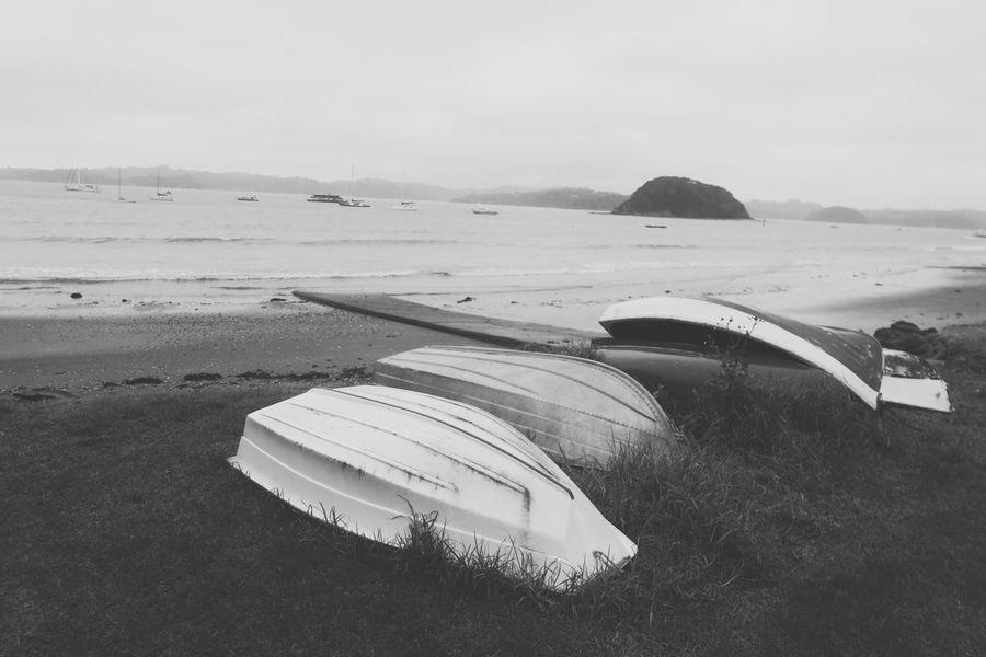 Beach Scenics Sea Vacations Travel Destinations Outdoors Damaged Shore No People Boat Broken Black And White Transportation Travel Rainy Days Island Bay