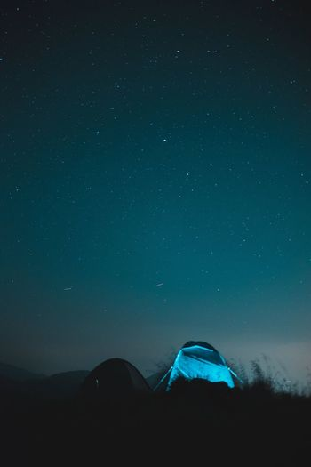 Swiss Camp Night Space Star Field Constellation Blue Nature Mountain Beauty In Nature